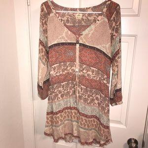 Quarter sleeve sun dress